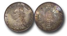 World Coins - MD1581  - Great Britain, Victoria (1837-1901), Florin, 1887, Jubilee Head Coinage