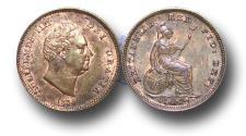 World Coins - MD11219 - Great Britain, William IV (1830-1837), Copper Third-Farthing, 1835, UNC
