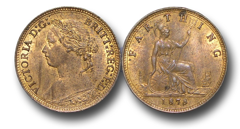 World Coins - EM331 -   Great Britain,  Victoria   (1837-1901), Bronze Farthing, 1878