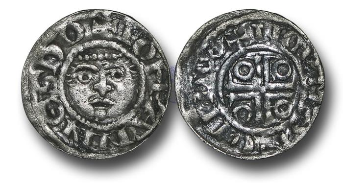 World Coins - IR1753 - IRELAND, John as Lord of Ireland (1172-1216), Halfpenny, 0.65g., 16mm, 2nd 'Dominus' coinage, group 1b (c.1190-1198), small flan types, Norman - Dublin