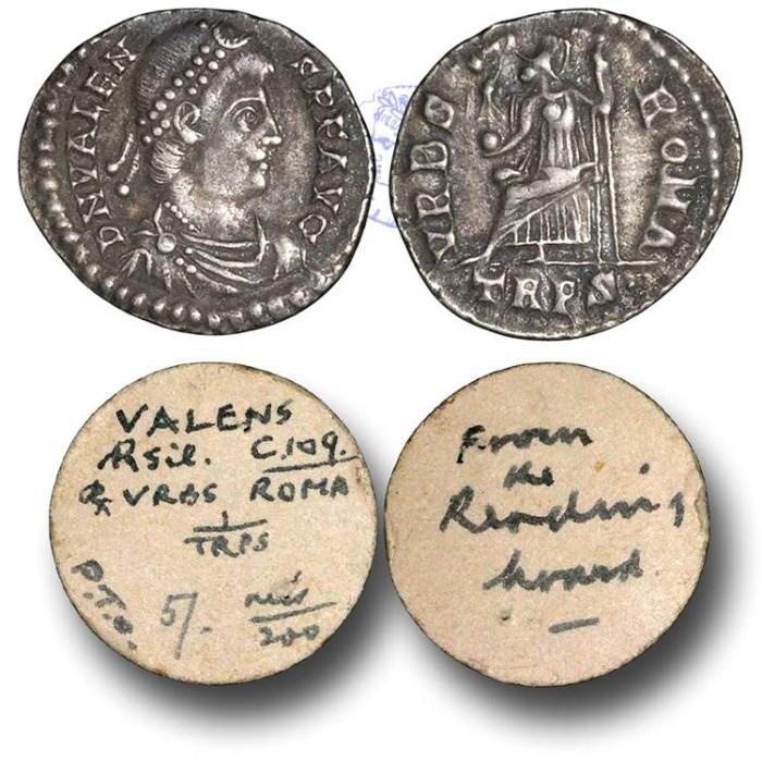 Ancient Coins - R948 - Valens (A.D. 364-378), Siliqua, 1.86g., Treveri mint (Trier, Germany),  24 August A.D. 367 - 17 November A.D. 375, Ex Reading Hoard