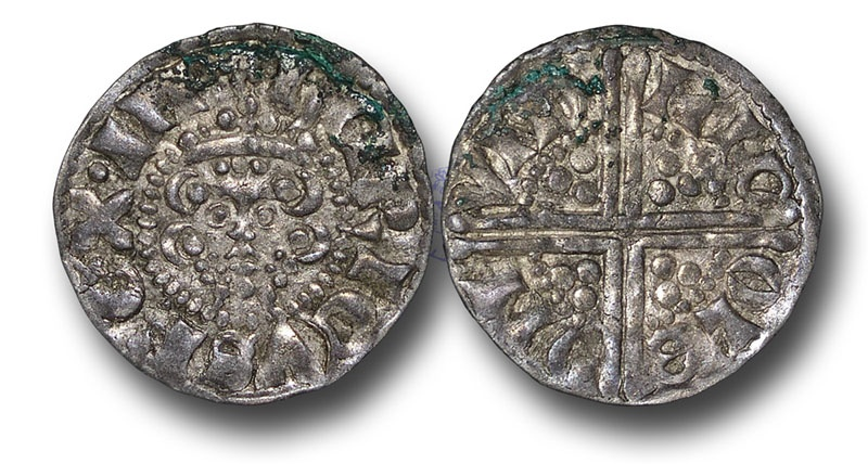 World Coins - H5360 - ENGLAND, Henry III (1216-1272), Penny, Voided Long Cross Coinage, 1.46g., 19mm, Class 3c, (1248-1250), Nicole - London