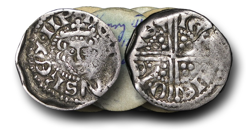 World Coins - VLC711 - ENGLAND, Henry III (1216-1272), Penny, 1.42g., Voided Long Cross Coinage, Class 3b, (1248-1250), Ieremie - York