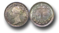 World Coins - EM376 - Great Britain, Victoria   (1837-1901), Silver Maundy Penny,  1880