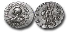 Ancient Coins - IG609 - Indo-Greek Kingdoms, Menander I (c.165/55–130 B.C.), Silver Drachm