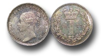 World Coins - EM374 - Great Britain, Victoria   (1837-1901), Silver Maundy Penny,  1877