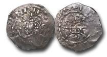World Coins - TP13 - England, Norman, Henry I (1100-1135), Silver Penny, 1.40g., 20mm, Quadrilateral on Cross Fleury type (1125 - c.1135), BMC type XV, London - Beorhtmæ