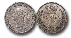 World Coins - EM371 - Great Britain, Victoria (1837-1901), Silver Maundy Fourpence, 1852