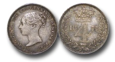 World Coins - EM362 - Great Britain, Victoria (1837-1901), Silver Maundy Fourpence, 1877