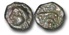 Ancient Coins - EC13 - CELTIC, Gaul, Bellovacii(?), (c.60-40 B.C.), Potin Unit