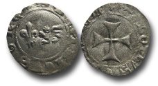World Coins - SF22 - Anglo-Gallic,	French Royal Coinage, Henry VI (As King of France 1422-1453), Billon Denier tournois, Ex Steve Ford Collection.