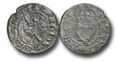 "World Coins - IR11483 – ENGLAND and IRELAND, CHARLES I (1625-1649), Copper Royal Farthing, ""Maltravers"" issue"