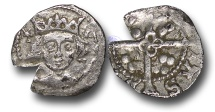 World Coins - JB1706 - IRELAND, Edward IV  (1461-1483), Penny, 0.43g., 14mm, Light Cross and Pellets Coinage (c.1470-78), Dublin mint