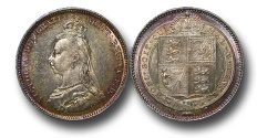 World Coins - EM523 - Great Britain, Victoria (1837-1901), Shilling, 1887, Jubilee Head Coinage