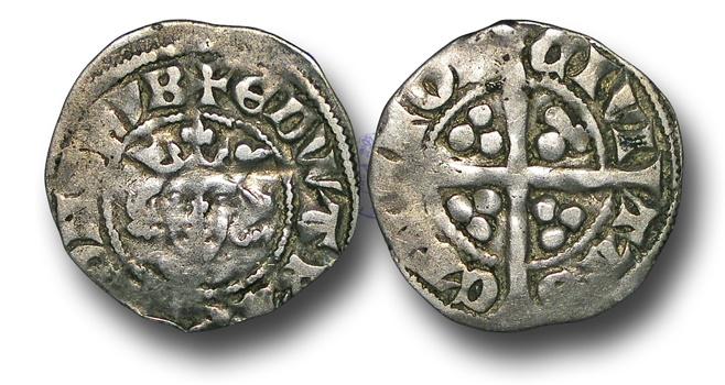 World Coins - H3274 - ENGLAND, Edward I (1272-1307), Penny, 1.38g.,  class 10cf2, Canterbury mint