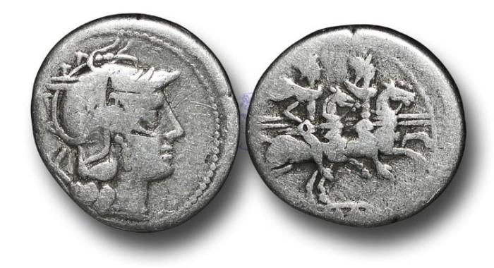 Ancient Coins - R6102 – Roman Republic, Anonymous, (211-206 B.C.), Silver Denarius