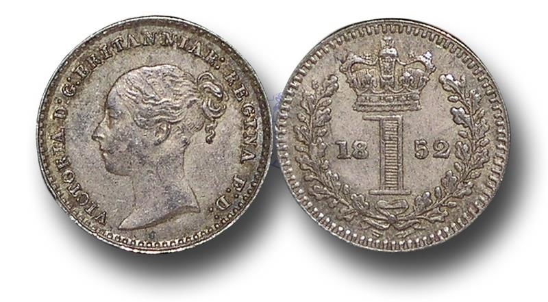 World Coins - MD1434 - Great Britain, Victoria (1837-1901), Silver Maundy Penny,  1852