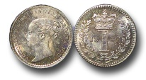 World Coins - EM504 - Great Britain, Victoria   (1837-1901), Silver Maundy Penny,  1869