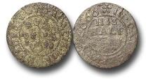 World Coins - H5535 – England,  Kent, Canterbury, Francis Maplisden, Copper Halfpenny Token, 1.31g., 19mm, 1666
