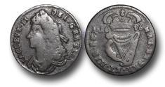 World Coins - IR1307 - IRELAND, James II (1685-1691), John Knox's Coinage, Copper Halfpenny, 1686