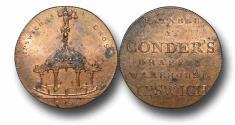 World Coins - MD1752  - GREAT BRITAIN, Suffolk, Ipswich, Halfpenny, 1794, James Conder, (DH 35), GEF RED