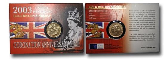 World Coins - WZ66 – GREAT BRITAIN, Elizabeth II (1952-), Gold Sovereign, 2003