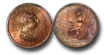 World Coins - MD608 - GREAT BRITAIN, George III (1760-1820), Copper Penny, 19.22g., 34mm, Matthew Boulton's Soho mint, 1807