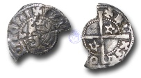 World Coins - JB1717 - SCOTLAND, David II   (1329-1371), Halfpenny EXTREMELY RARE