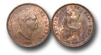 World Coins - EM159 -  Great Britain, William IV (1830-1837), Copper Third-Farthing, 1835