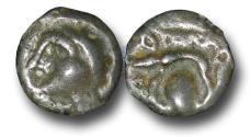 Ancient Coins - EC1119 - EUROPEAN CELTIC, Gaul, Bellovacii(?), (c.60-40 B.C.), Potin Unit