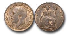 World Coins - EM561 –  Great Britain, George V (1910-1936), Bronze Farthing, 1919