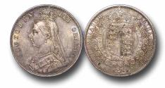 World Coins - MD1189 - Great Britain, Victoria 	(1837-1901), Halfcrown, 1887, Jubilee Head Coinage, UNC, TONED
