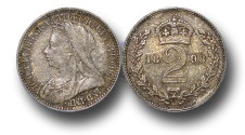 World Coins - EM130 - Great Britain, Victoria   (1837-1901), Silver Maundy Twopence, 1898