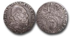 World Coins - ME9066 - ITALY, Papal Coinage, Gregory XIII (1572-1585), Silver Testone, 29mm, 9.37g., Ancona mint