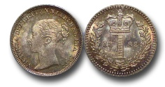 World Coins - EM610 - Great Britain, Victoria 		(1837-1901), Silver Maundy Penny,  1882