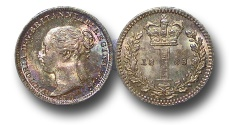 World Coins - EM444 - Great Britain, Victoria (1837-1901), Silver Maundy Penny,  1883