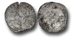 World Coins - ME1132 – FRANCE, ROYAL COINAGE, Henri II (1519-1559), Silver Douzain aux Croissants, Limoges mint