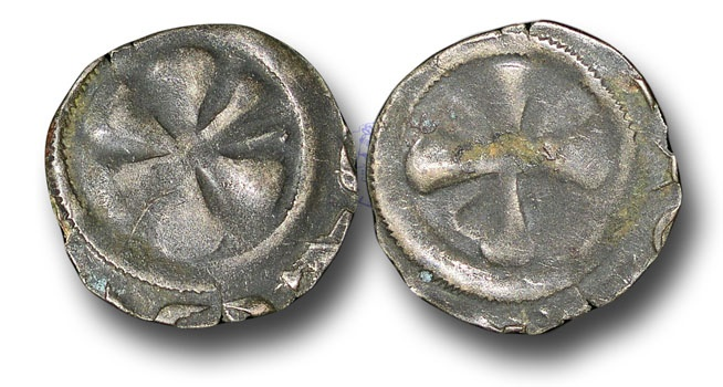 World Coins - ME631 - FRANCE, FEUDAL, Auvergne, Bishops of Puy (13th century), Silver Denier