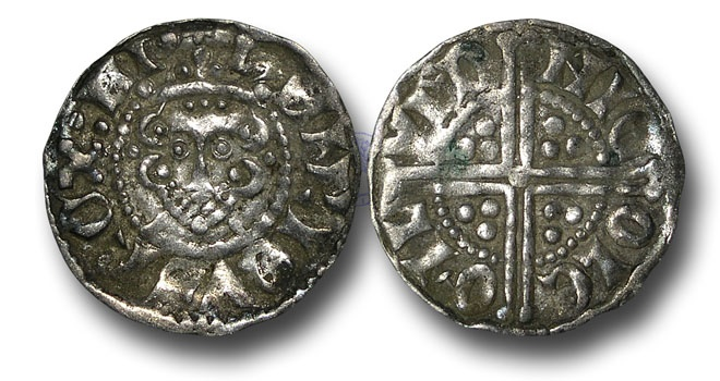 World Coins - VLC421 - ENGLAND, Henry III (1216-1272), Penny, 1.48g., Voided Long Cross Coinage, Class 3c, (1248-1250), Nicole - London