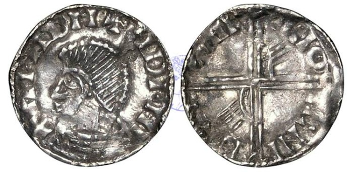 """Ancient Coins - IR125 - IRELAND, Hiberno-Norse Kings of Dublin, Phase III (c.1035-c.1060), Penny, 0.97g., """"Long Cross and Hand Coinage"""""""