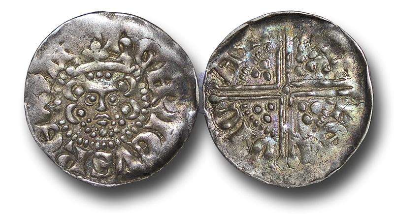 World Coins - H5526 - England, Henry III (1216-1272), Penny, Voided Long Cross Coinage, 1.454., Class 3b, (1248-1250), Willem - Canterbury