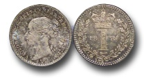World Coins - EM463 - Great Britain, Victoria   (1837-1901), Silver Maundy Penny,  1874