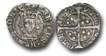 World Coins - H3137 - ENGLAND, Henry VI, First Reign (1422-1461), Penny, 0.96g., Annulet issue (1422-27), Calais mint