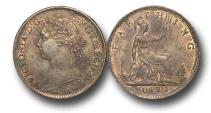 World Coins - EM340 -  Great Britain,  Victoria   (1837-1901), Bronze Farthing, 1883