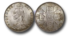 World Coins - EM559 - Great Britain, Victoria  (1837-1901), Florin, 1887, Jubilee Head Coinage