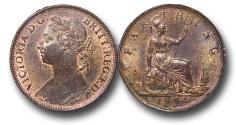 World Coins - EM619 - Great Britain, Victoria (1837-1901), Bronze Farthing, 1884