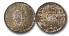 World Coins - MD1591 - Great Britain, Victoria (1837-1901), Silver Threepence, 1887, UNC