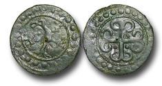 World Coins - H15203 - MEDEIVAL ENGLAND, PLANTAGENET (c.1280-1343), Copper Jeton