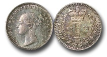 World Coins - EM638 - Great Britain, Victoria (1837-1901), Silver Maundy Penny, 1873