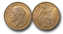 World Coins - EM457 – 	Great Britain, George V (1910-1936), Bronze Farthing, 1936